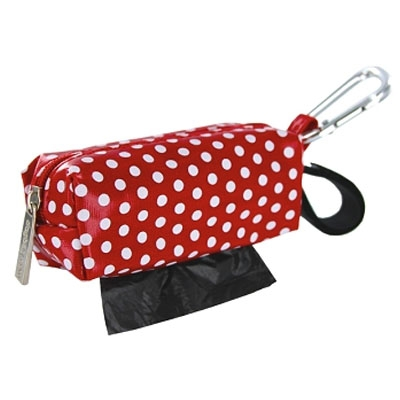 digPETS Duffel - Red w/White Dots w/1 Roll