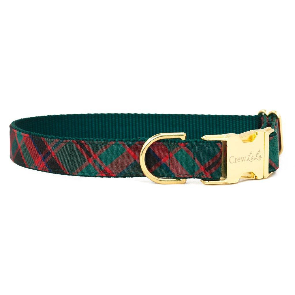 Crew LaLa Holiday Plaid Dog Collar
