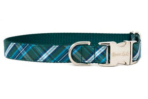 Crew LaLa Hunter Plaid Dog Collar
