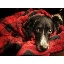 Load image into Gallery viewer, Tall Tails Plaid Dog Blanket