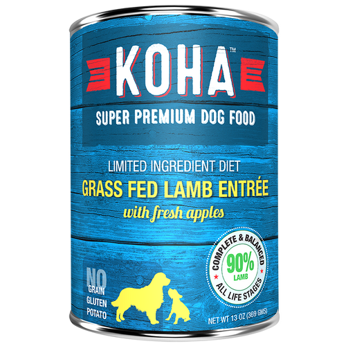 KOHA Pet Food Grass Fed Lamb Entree 13oz.