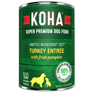 KOHA Pet Food Turkey Entree 13oz.