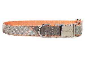 Crew LaLa Magnolia Plaid Flannel Dog Collar