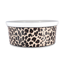 Load image into Gallery viewer, Mission Pets Leopard Ceramic Bowls