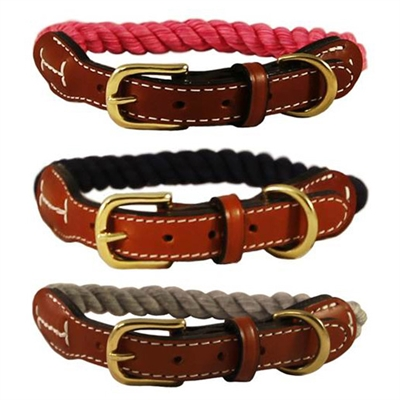 Auburn Leathercrafters Natural Cotton & Leather Collars