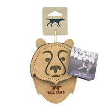 Load image into Gallery viewer, Tall Tails Natural Leather Bear Toy 4""