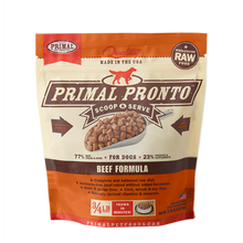 Load image into Gallery viewer, Primal Pet Foods Pronto Raw Frozen Canine Beef Formula