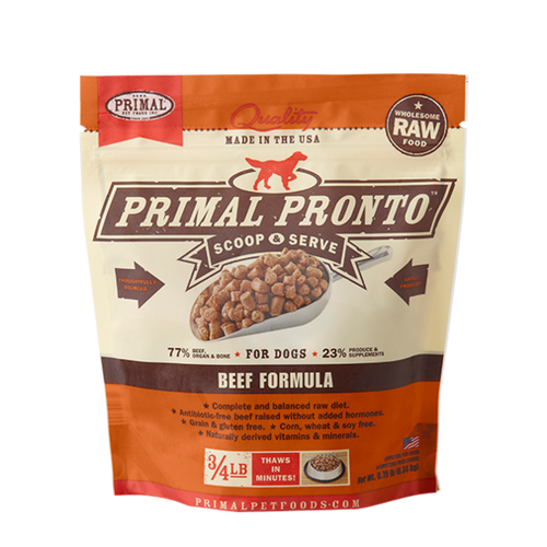 Primal Pet Foods Pronto Raw Frozen Canine Beef Formula