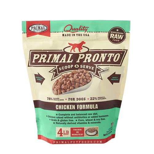 Primal Pet Foods Pronto Raw Frozen Canine Chicken Formula