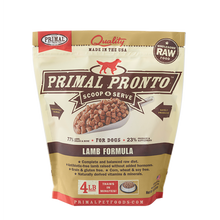 Load image into Gallery viewer, Primal Pet Foods Pronto Raw Frozen Canine Lamb Formula