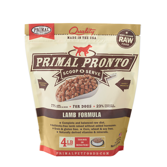 Primal Pet Foods Pronto Raw Frozen Canine Lamb Formula