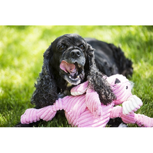 Load image into Gallery viewer, Hugglehounds Plush Corduroy Durable Knotties Bunny Dog Toy