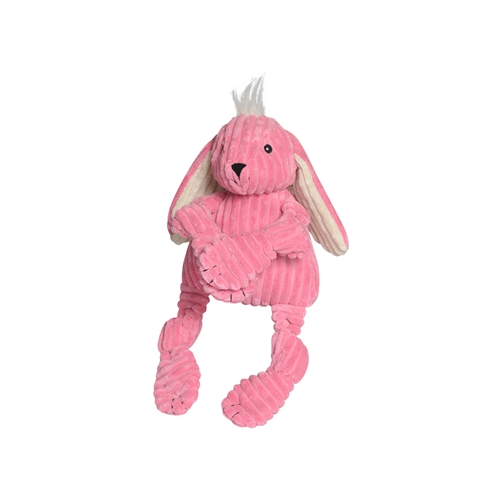 Hugglehounds Plush Corduroy Durable Knotties Bunny Dog Toy