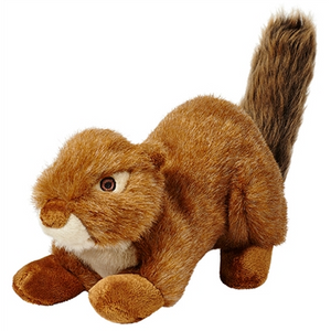 Fluff & Tuff Red Squirrel - Squeakerless
