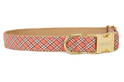 Crew LaLa Sea Island Plaid Dog Collar