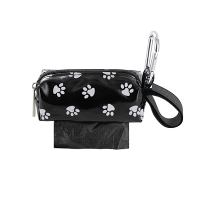 digPETS Single SQ Duffel w/ 1 Refill Roll - Black Paw / Unscented