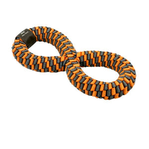 Tall Tails Orange Braided Infinity Tug Toy