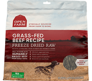 Open Farm Grass-Fed Beef Freeze Dried Recipe