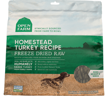 Open Farm Homestead Turkey Freeze Dried Recipe