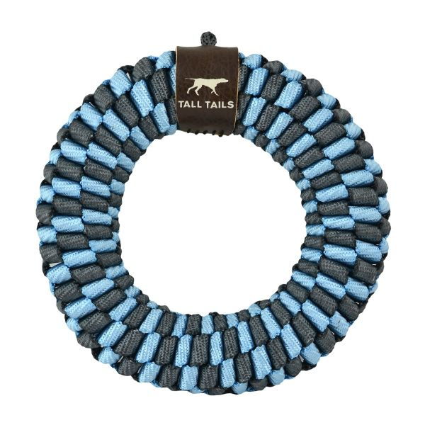 Tall Tails Blue Braided Ring Toy