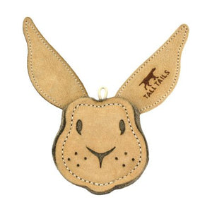 Tall Tails Natural Leather Scrappy Rabbit Toy 4""