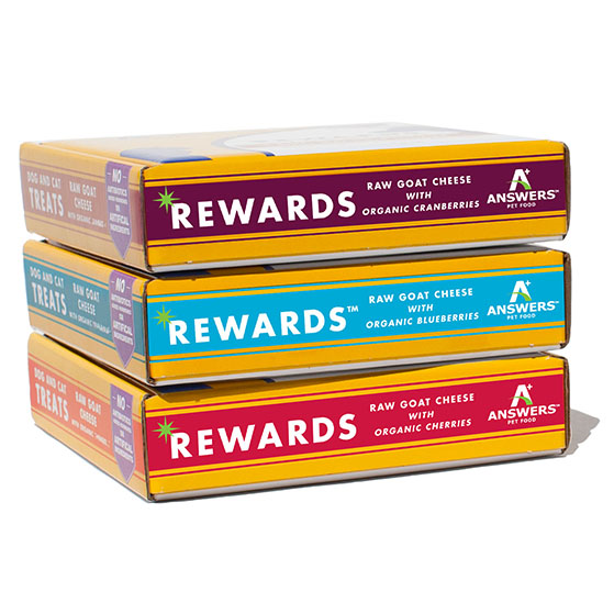 Answers Rewards- Raw Goat Cheese Treats for Cats & Dogs