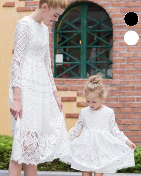 0ab77a748ff 2018 family matching clothes Mom and daughter dresses Cotton lace mother  daughter dresses clothes parent child