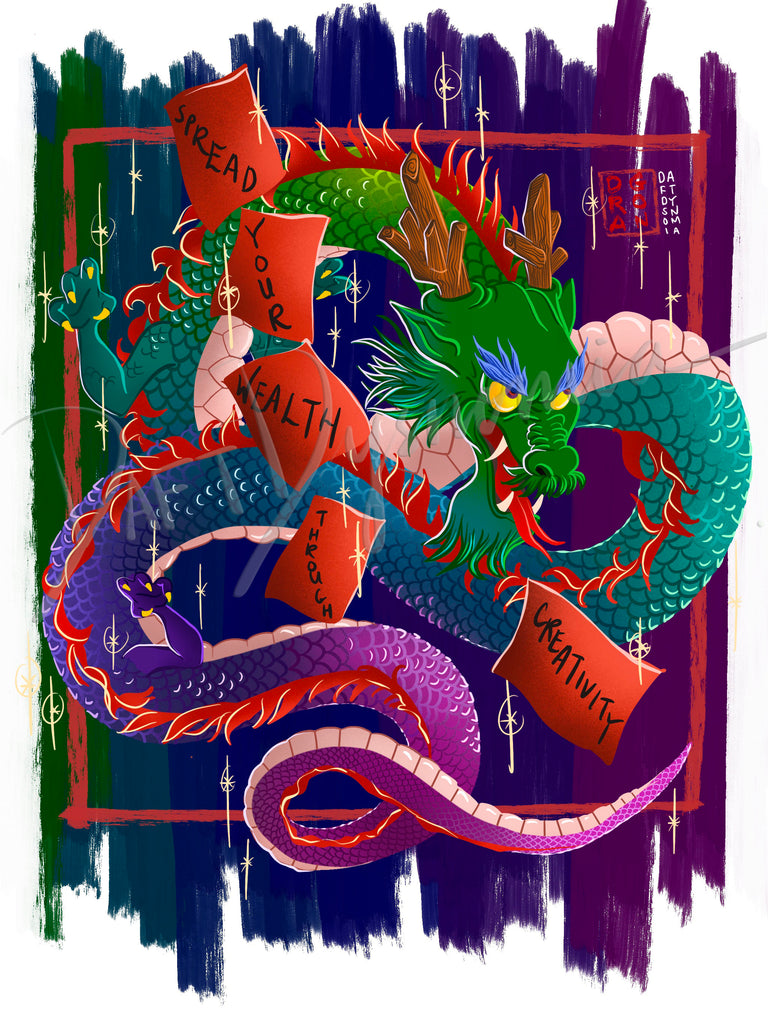 Daft Dysnomia Chinese Zodiac Illustration For Printing