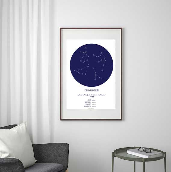 Crystellarium Custom Zodiac Constellation Crystal Starmaps