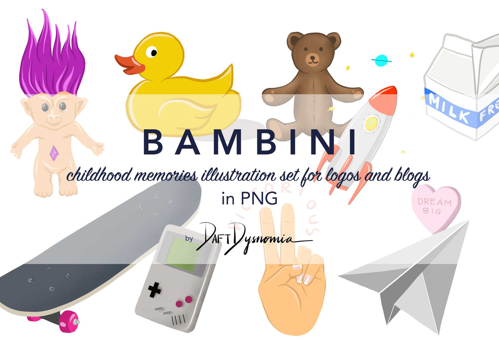 Daft Dysnomia BAMBINI illustration set