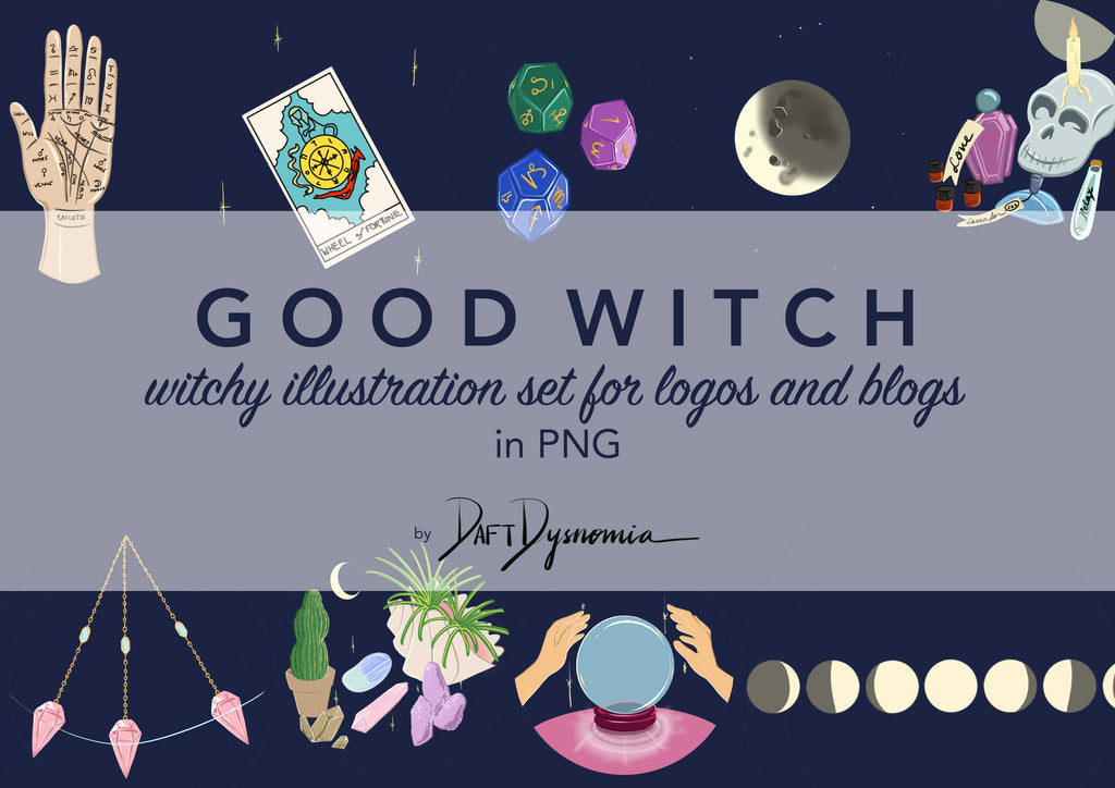 Daft Dysnomia GOODWITCH illustration set