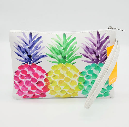 PINEAPPLE PARTY WRISTLET ZIPPER POUCH