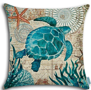 DECORATIVE SEA TURTLE PILLOW