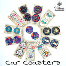 Load image into Gallery viewer, car coasters set of 2