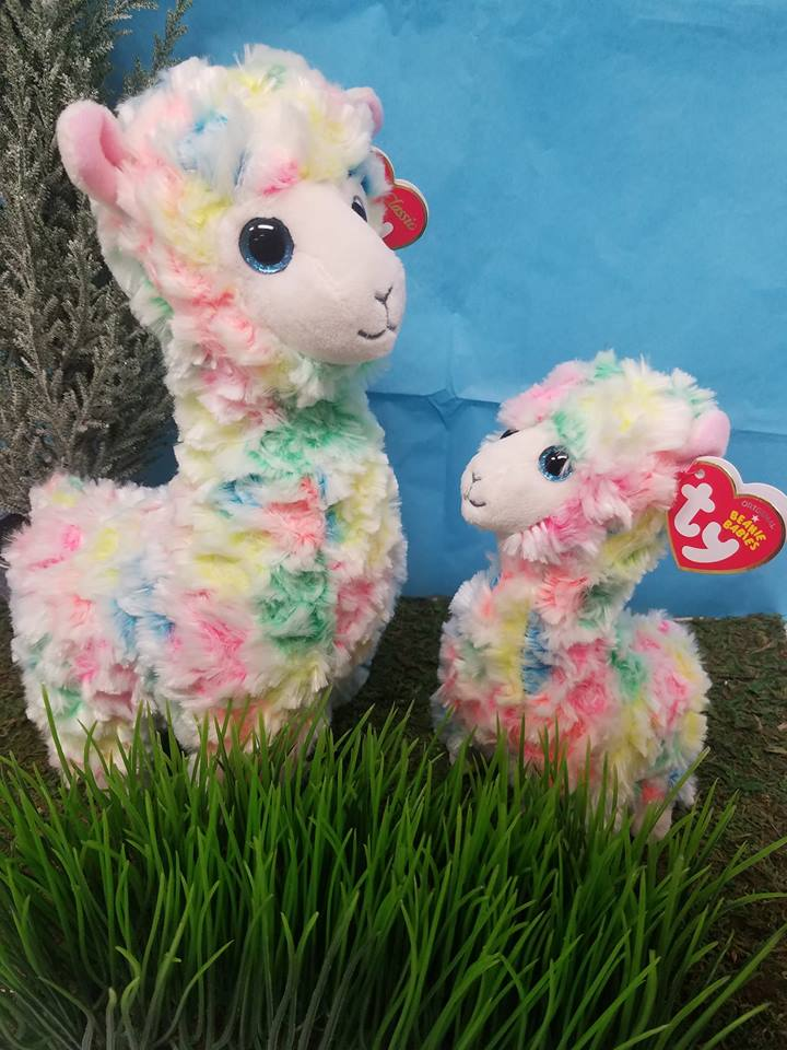 6e846619a58 TY Beanie Baby Lola Llama multi-colored – The Willows Shop   Boutique