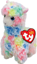 Load image into Gallery viewer, TY Beanie Baby Lola Llama multi-colored
