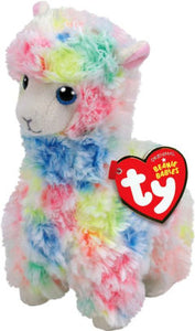 TY Beanie Baby Lola Llama multi-colored