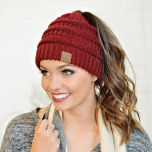 Load image into Gallery viewer, C.C. solid messy bun beanie
