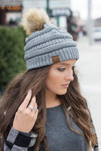 Load image into Gallery viewer, C.C beanie with pom pom
