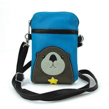 "Load image into Gallery viewer, ""Sea Otter"" crossbody pouch"