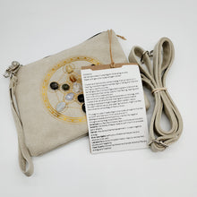 Load image into Gallery viewer, SACRED GEOMETRY CRYSTAL GRID BAG FOR ALLEVIATING ANXIETY