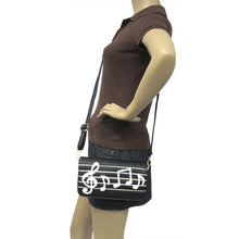Load image into Gallery viewer, MUSIC NOTES WRISTLET SHOULDER/CROSSBODY  WALLET BAG