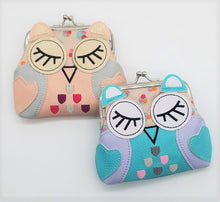 Load image into Gallery viewer, SLEEPING OWL KISSLOCK COIN PURSE