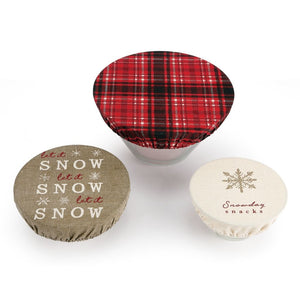 SNOWDAY SNACKS DISH COVERS SET OF 3