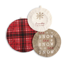 Load image into Gallery viewer, SNOWDAY SNACKS DISH COVERS SET OF 3