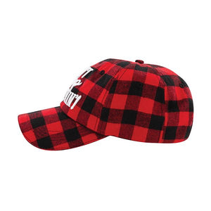 Don't Stop Believin' Buffalo Plaid Hat