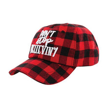 Load image into Gallery viewer, Don't Stop Believin' Buffalo Plaid Hat
