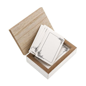 Wood Prayer Box with 50 Note Cards