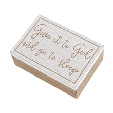 Load image into Gallery viewer, Wood Prayer Box with 50 Note Cards