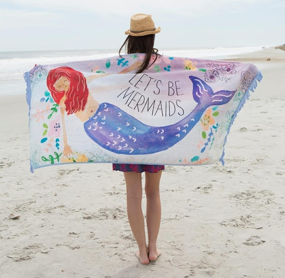 Let's Be Mermaids Beach Towel